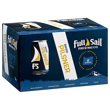 Full Sail Bohemian Pilsner In Cans - 6-12 Fl. Oz.
