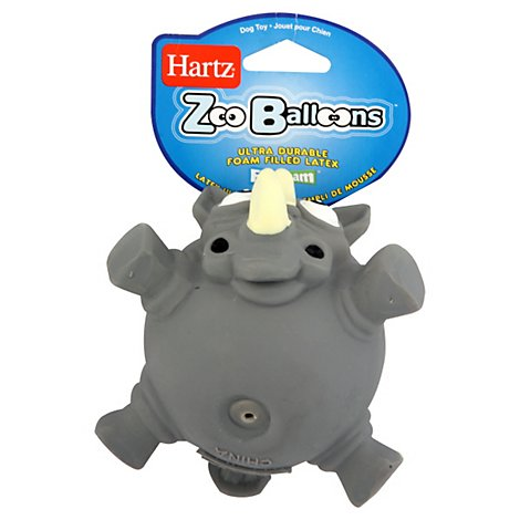 Hartz Zoo Balloons Dog Toy - Each