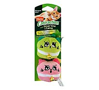 Hartz Cattraction Macaron Mice Cat Toy With Silver Vine & Catnip - 2 Count