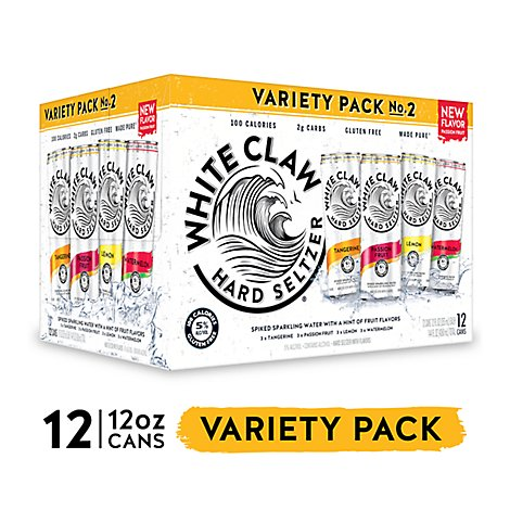 White Claw Spiked Sparkling Water Variety Pack No. 2 Cans - 12-12 Fl. Oz.