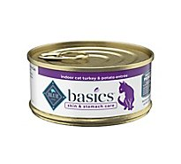 BLUE Basics Cat Food Grain Free Indoor Turkey & Potato Entree - 5.5 Oz