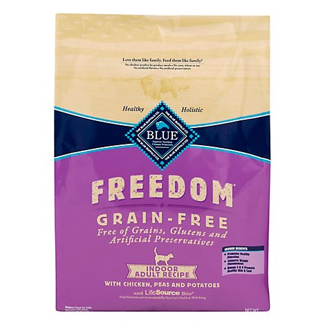 Blue Freedom Adult Indoor Chicken Cat Food - 9.5 Lb