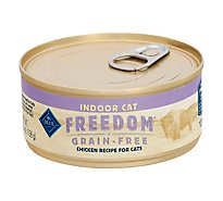 BLUE Freedom Cat Food Indoor Grain Free Natural Chicken Recipe - 5.5 Oz