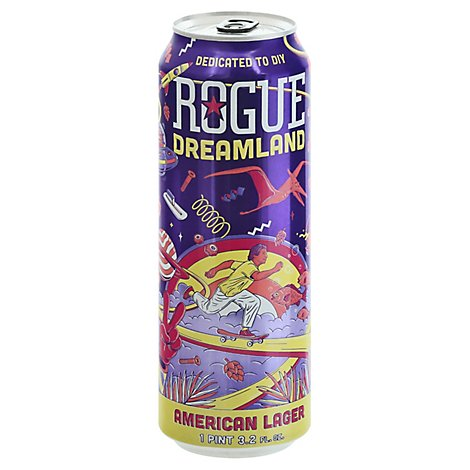 Rogue Dreamland Lager In Cans - 19.2 Fl. Oz.