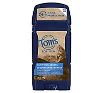 Toms Long Lasing Wide Stick Deodorant Mtn Spring - 2.8 Oz
