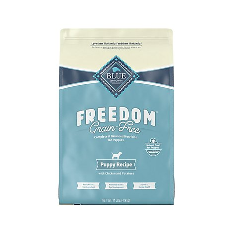 BLUE Freedom Dog Food Puppy Grain Free Natural Chicken Recipe - 11 Lb