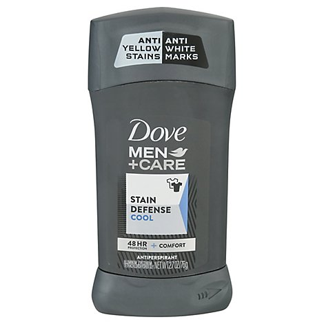 Dove Men+Care Antiperspirant Solid Invisible Stain Defense Cool - 2.7 Oz