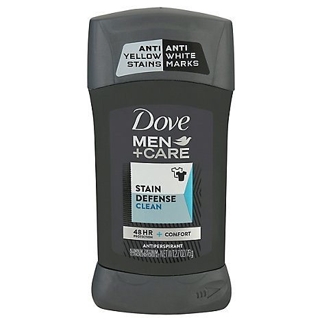 Dove Men+Care Antiperspirant Solid Invisible Stain Defense Clean - 2.7 Oz