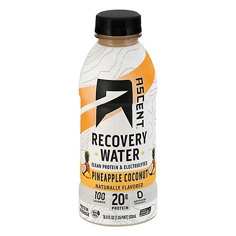 Ascent Recovery Water Pineapple Coconut - 16.9 Fl. Oz.