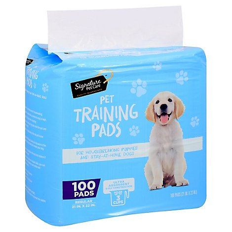 Signature Pet Care Training Pads Regular - 100 Count