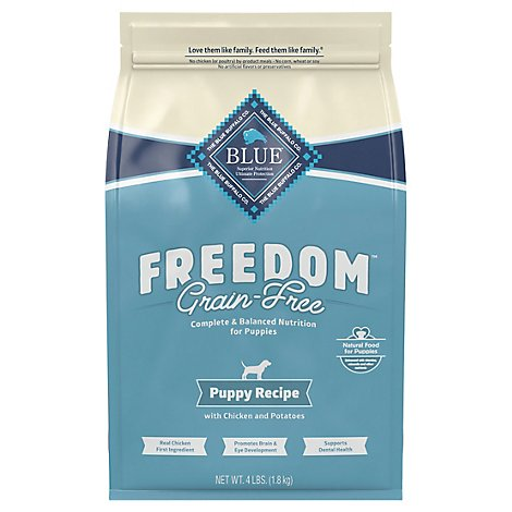 BLUE Freedom Dog Food Puppy Grain Free Natural Chicken Recipe - 4 Lb