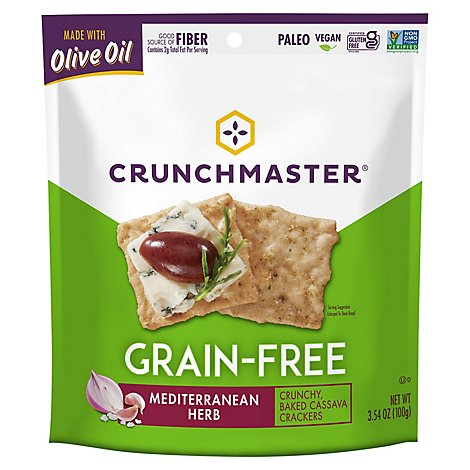 Crunchmaster Grain Free Crackers Mediterranean Herb - 3.54 Oz