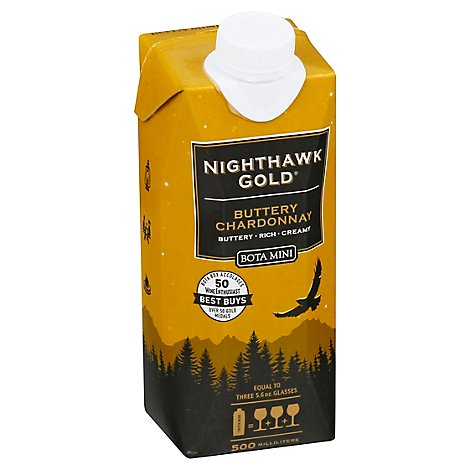 Bota Box Mini Nighthawk Chardonnay Tetra Wine - 500 Ml