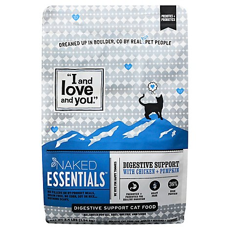 I and love and you Cat Food Digestive Support With Chicken + Pumpkin - 3.4 Lb
