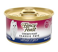 Fancy Feast Cat Food Wet Chicken Feast Classic Pate Senior 7+ - 3 Oz