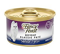Fancy Feast Cat Food Wet Senior Fancy Feast Cat Food Wet Tender Beef Feast Classic Pate Senior 7+ - 3 Oz
