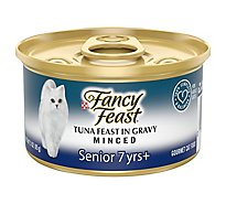 Fancy Feast Cat Food Gourmet Senior Tuna Feast In Gravy Minced - 3 Oz