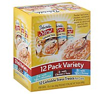 Delectables Stew Lickable Treats For Cats Variety Pack - 12-1.4 Oz