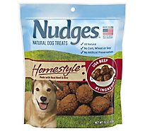 Nudges Natural Dog Treats Homestyle Made With Real Beef and Rice - 16 Oz