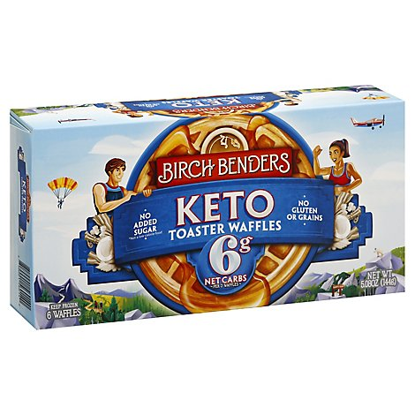 Birch Benders Toaster Waffles Keto 6 Count - 5.08 Oz