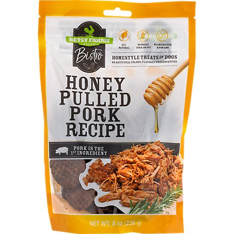 Betsy Farms Dog Food Hny Pulled Pork - 8 Oz