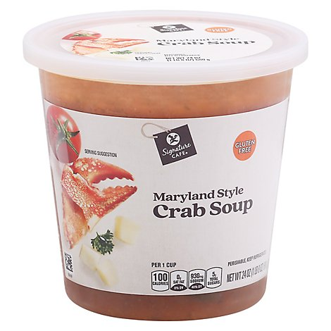 Signature Cafe Maryland Style Crab Soup - 24 Oz