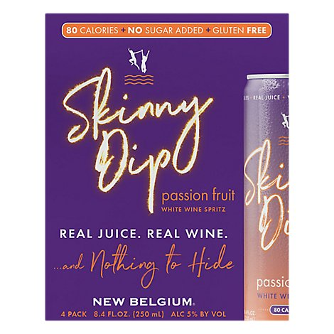 New Belgium Skinny Dip Passion Fruit White Wine Spritz - 33.6 Fl. Oz.