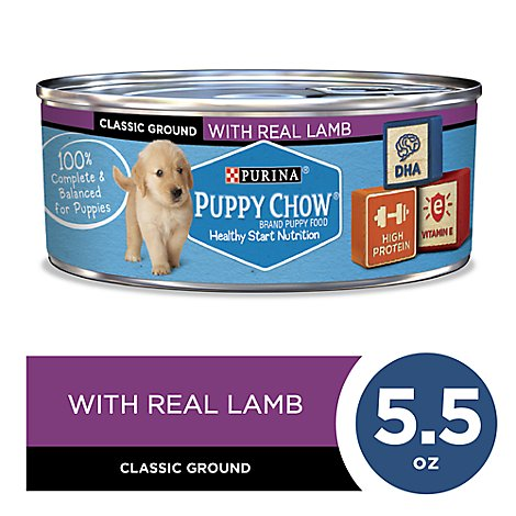 Puppy Chow Dog Food Wet Lamb - 5.5 Oz