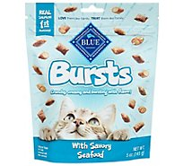 Blue Buffalo Burst Filled Cat Treats Seafood - 5 Oz