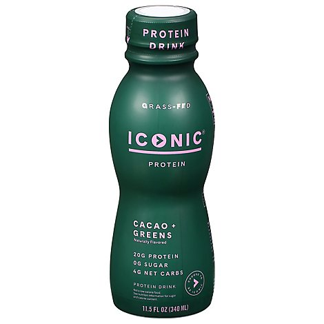 Iconic Protein Drink Cacao Green - 11.5 Fl. Oz.