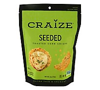 Craize Extra Thin & Crunchy Seeded Toasted Corn Crisps - 4 Oz.