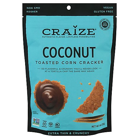Craize Extra Thin & Crunchy Coconut Toasted Corn Crisps - 4 Oz.
