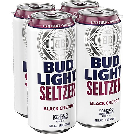 Bud Light Seltzer Black Cherry In Cans - 4-12 Fl. Oz.