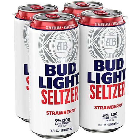 Bud Light Seltzer Strawberry In Cans - 4-16 Fl. Oz.