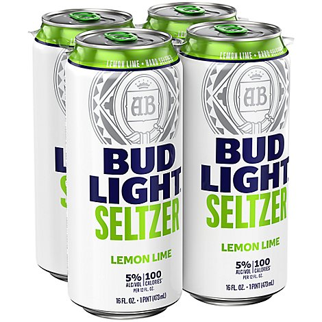 Bud Light Seltzer Lemon Lime In Cans - 4-16 Fl. Oz.
