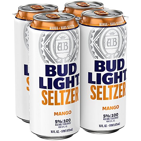 Bud Light Seltzer Mango In Cans - 4-16 Fl. Oz.