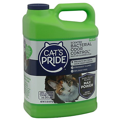 Cats Pride Bacterial Odor Control Litter - 15 Lb