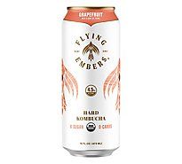 Flying Embers Grapefruit Thyme Organic Hard Kombucha In Cans - 16 Fl. Oz.