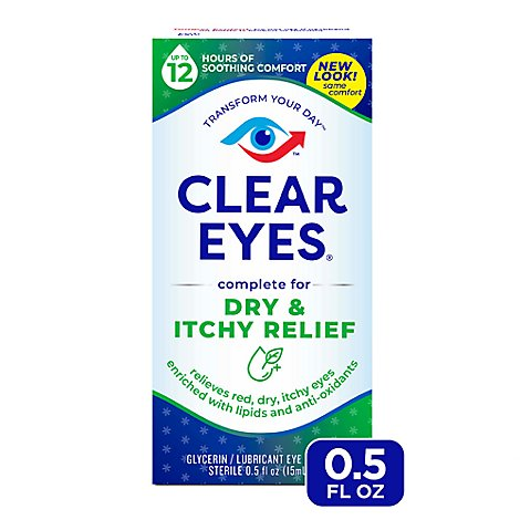 Clear Eyes Advanced Dry And Itchy - .5 Oz