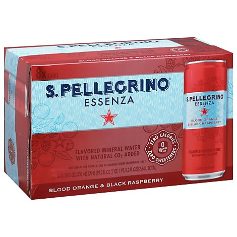 Sanpellegrino Essenza Water Carbonated Blood Orange Black Raspberry - 8-330 Ml