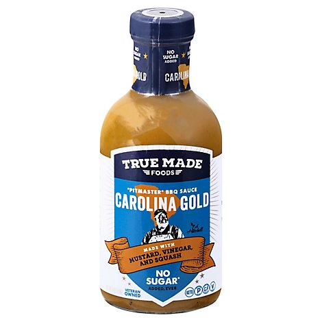 True Foods Sauce Bbq Crl Gold No Sgr - 16 Fl. Oz.