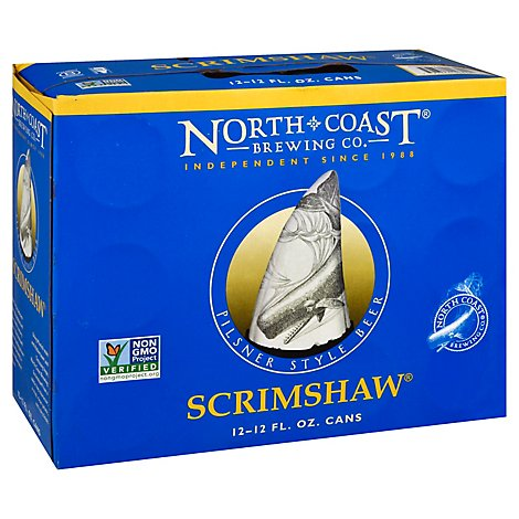 North Coast Scrimshaw Pilsner In Cans - 12-12 Fl. Oz.