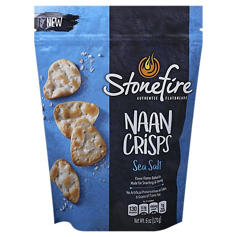 Stonefire Sea Salt Naan Crisps - 6 Oz.