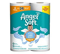 Angel Soft Toilet Paper Fresh Linen 6 Mr - 6 Roll