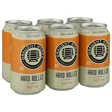 Draught Works Handrolled Hazy Ipa - 6-12 Fl. Oz.