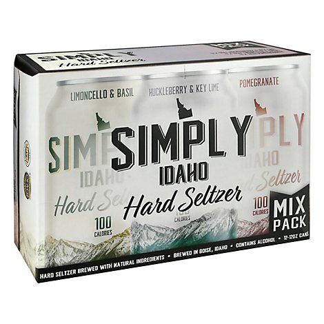 Simply Idaho Seltzer Variety In Cans - 12-12 Fl. Oz.