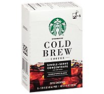 Starbucks Cold Brew Black Coffee - 6-1.35 Fl. Oz.