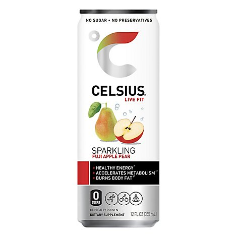 Celsius Sparkling Fuji Apple Pear - 12 Fl. Oz.