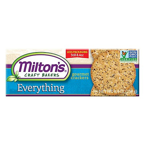 Miltons Cracker Gourmet Everythngrs - 8.4 Oz