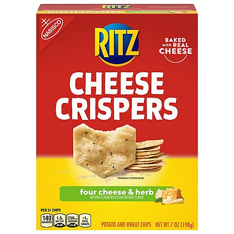 RITZ Cheese Crispers Chips Four Cheese & Herb - 7 Oz